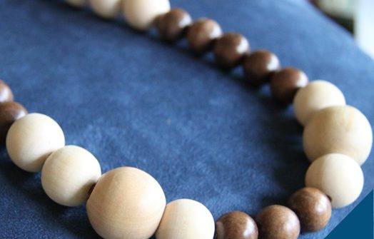 Homemade Christmas Gift - Wooden Bead Necklace