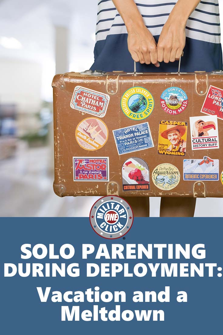 Being the only parent during a deployment is tiring.