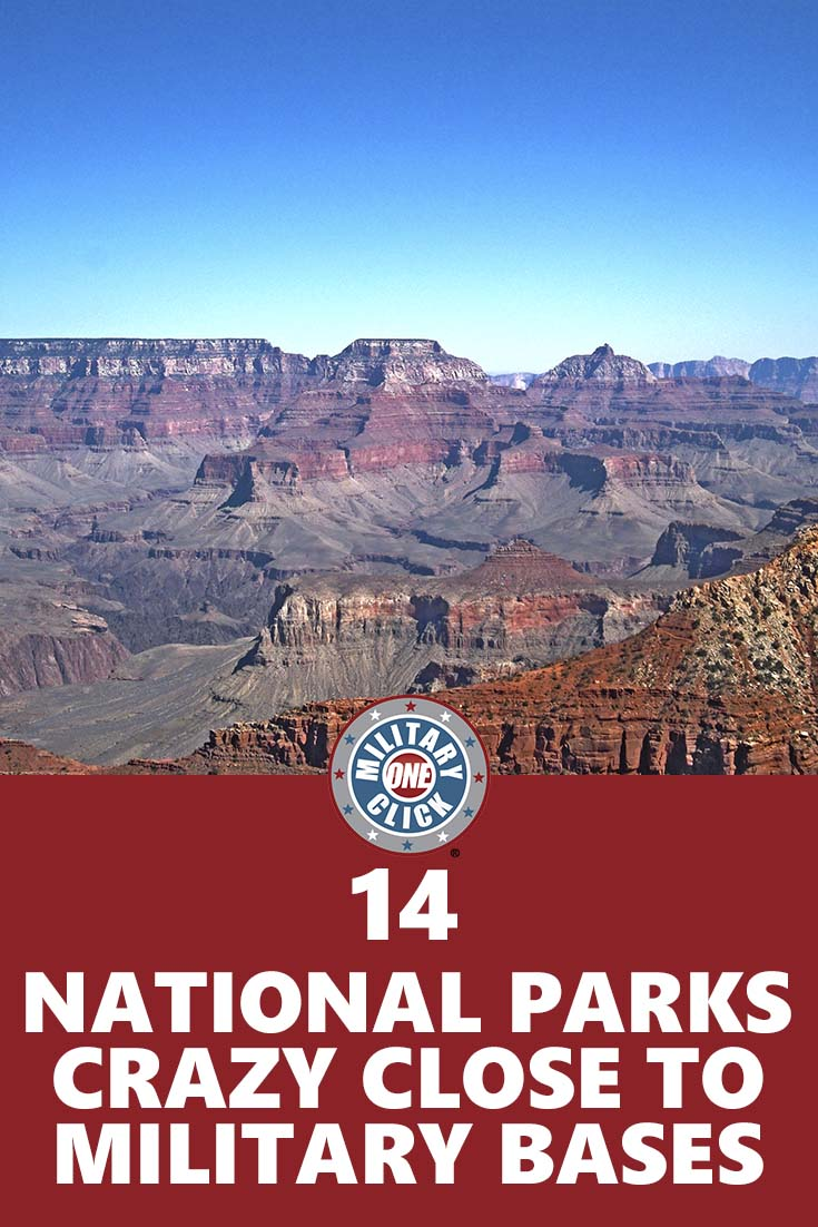 National parks that are close to military bases. Military families can get free passes too! (1)