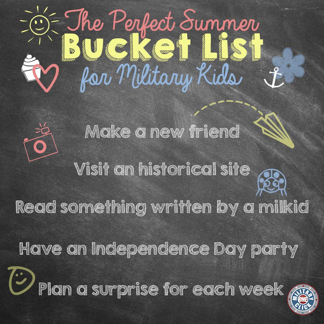 Love this summer bucket list for military kids! (2)
