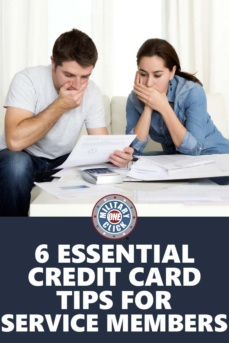 Credit cards help from a military financial planner.