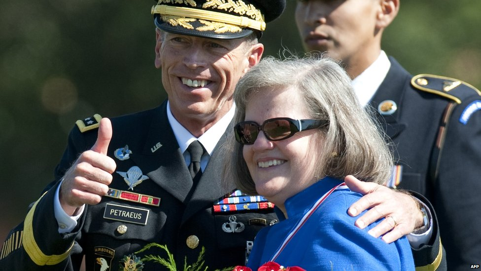 General and Mrs. Petraeus in happier times. (Photo: Win McNamee)