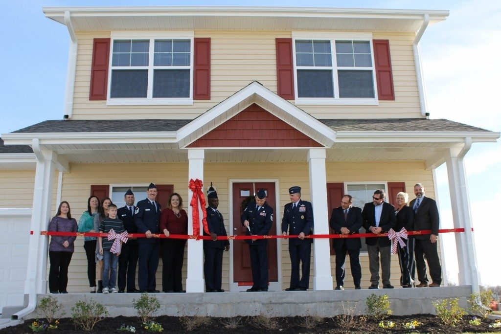 A ribbon cutting for new housing on McConnell Air Force Base. (Photo: USAF)