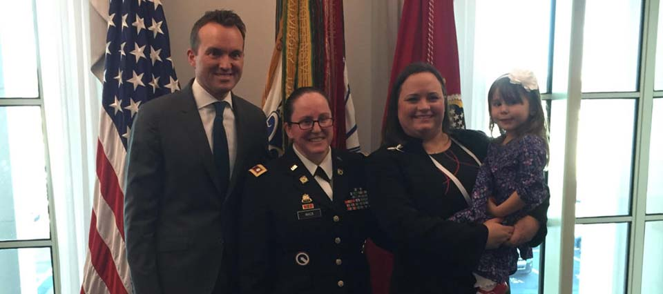 This military spouse was honored by the Secretary of the Army today