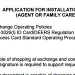 Installation access card for caregivers