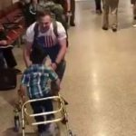 Emotional homecoming video shows a child walking to his daddy for the first time