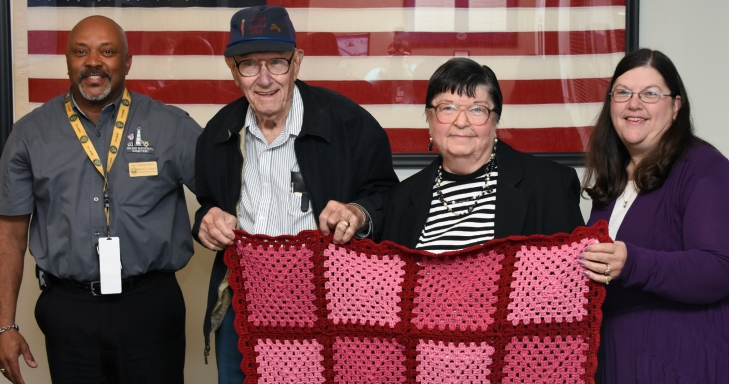 83-year-old Biloxi woman has made more than 1,500 blankets for Veterans and she's not done yet