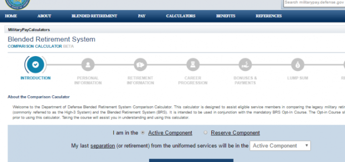 The DoD Blended Retirement System Calculator's Flaw